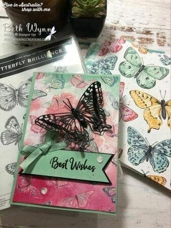 Butterfly brillance card