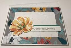 Fine art floral congratulations