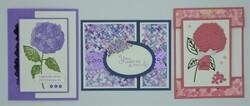 Hydrangea hill   3 cards