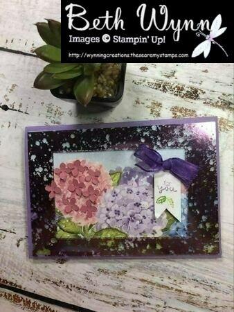Hydrangea hill mercury glass card fb live 27 3 2021  1
