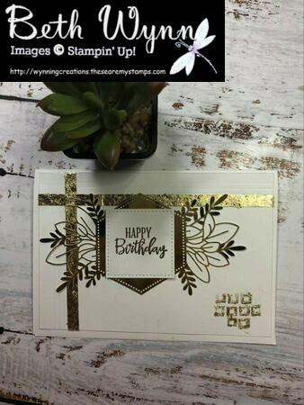 Gilded embellishments card fb live 27 3 2021