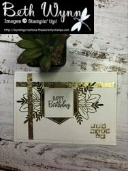 Gilded embellishments card fb live 27 3 2021
