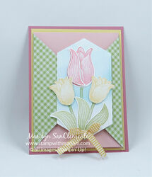 Easter tulips triangles w