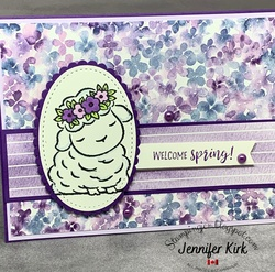 Easter purple springtime joy