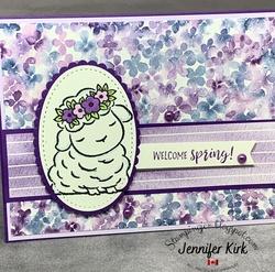 Easter purple springtime joy
