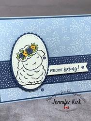 Easter blue spring time joy