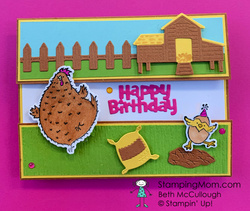 Hey birthday chick fun fold