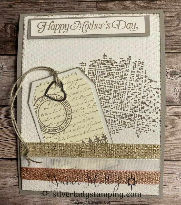 Very versailles mothers day card with bookmark
