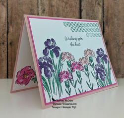 Stampin up inspiring iris tilt r open wm