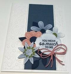 Pierced blooms card