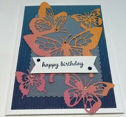 Butterfly beauty birthday card