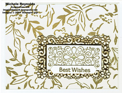 Ornate style golden wishes watermark