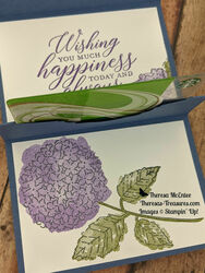 Stampin up hydrangea haven flat with gift card wm