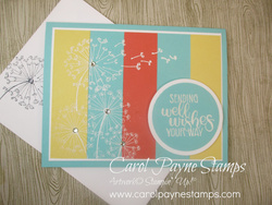 Stampin up dandelion wishes carolpaynestamps1