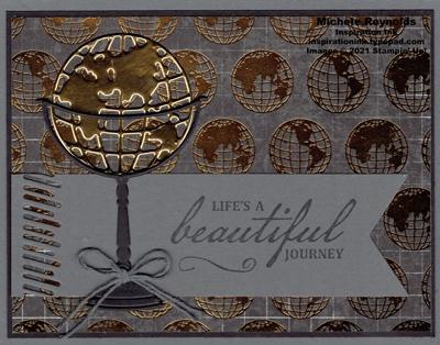 Beautiful world brass globe watermark