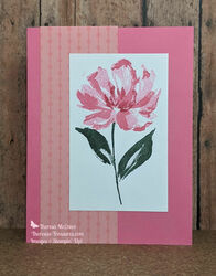 Stampin up art gallery polished pink straight wm