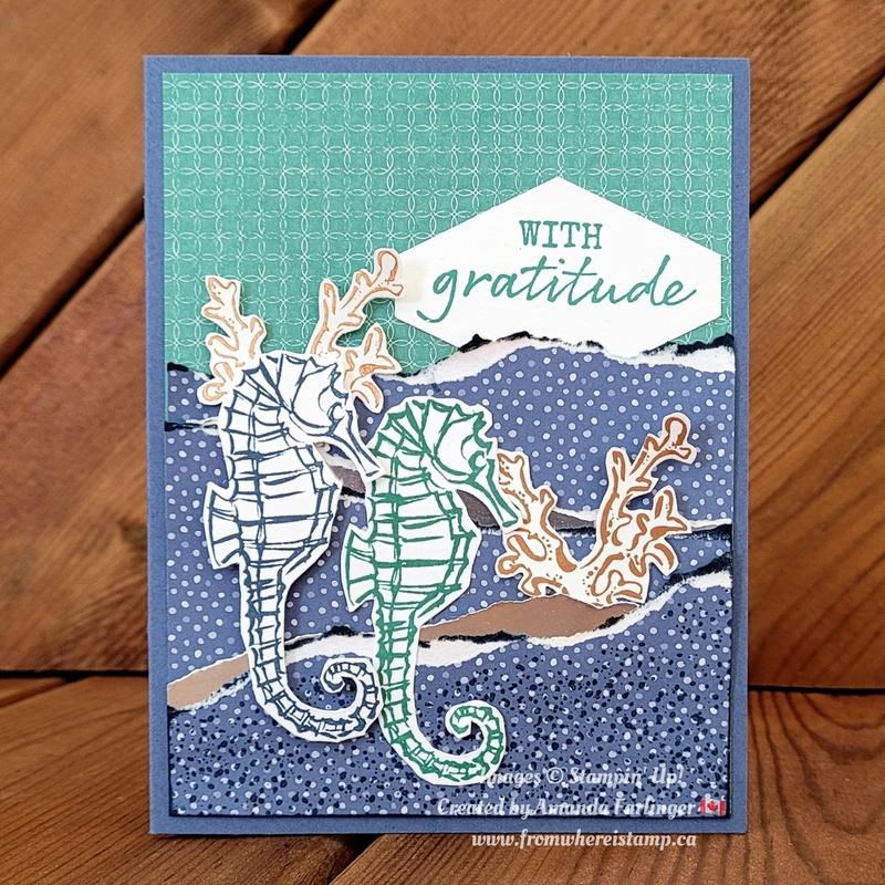 Seahorse gratitude fromwhereistamp