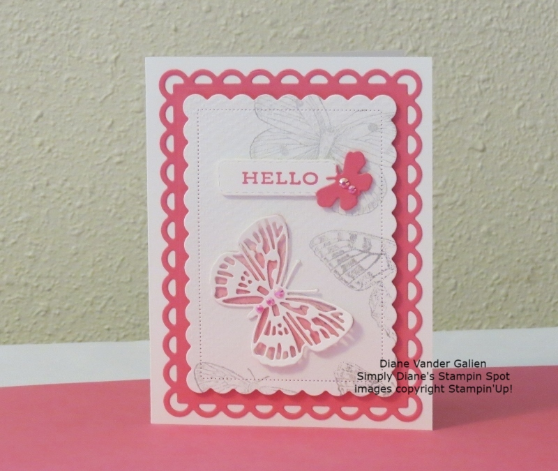 Butterfly brillance with polished pink