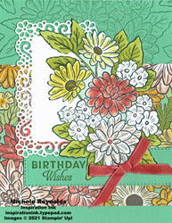 Ornate style big bouquet birthday watermark