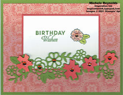 Ornate style bloom border birthday watermark