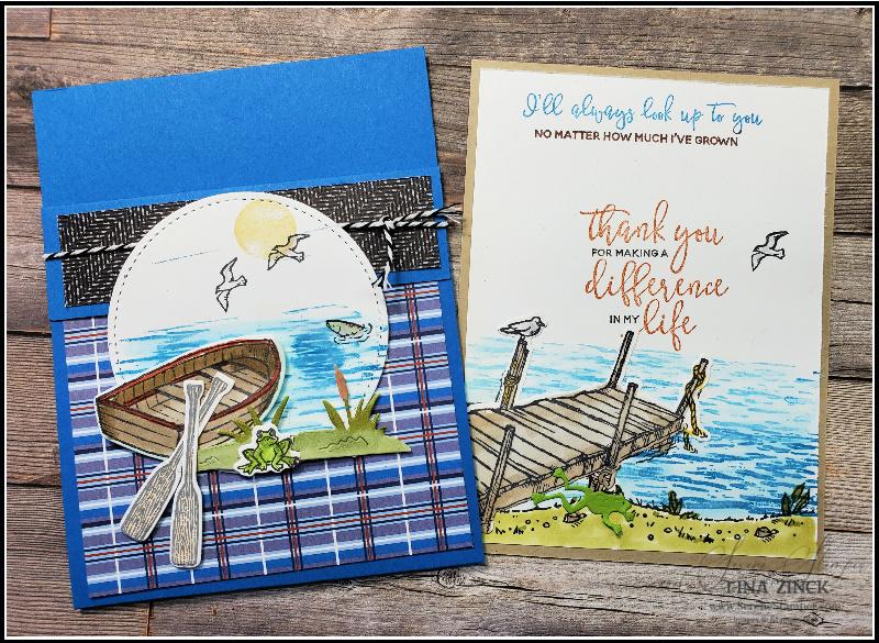 Tina zinck pocket fun fold card by the dock stampin up