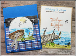 Tina zinck pocket fun fold card by the dock stampin up