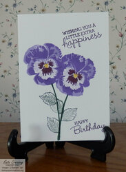 Pansy patch note card  simplestamping