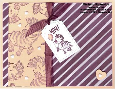 Celebration of tags purple stripe zebras watermark