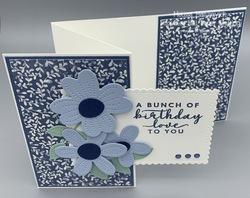 Boho indigo stitched so sweetly and pierced blooms