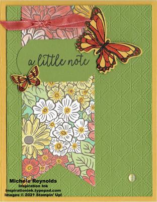Butterfly gala flower banner note watermark