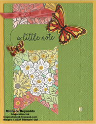 Butterfly gala flower banner note watermark
