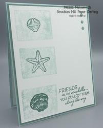 Friends are like seashells block stamping