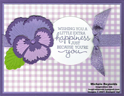 Pansy patch purple pansy happiness watermark