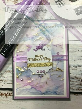 Alcohol ink and vellum card
