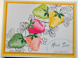 Sweet strawberry  in color card
