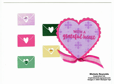 Banner year in color envelopes watermark