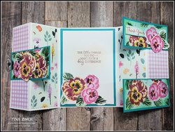 Tina zinck interlocking gatefold card pansy patch stamp set stampin up
