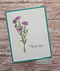 Stampin up quiet meadow thank you flat tilt l wm
