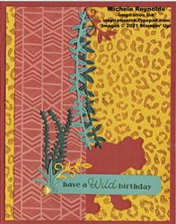 Wild cat jungle silhouette birthday watermark
