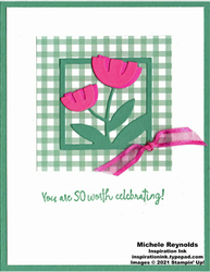 All squared away gingham tulips watermark