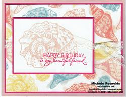 Friends are like seashells simple friendship birthday watermark