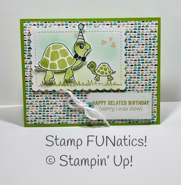 Turtle friends belated birthday card