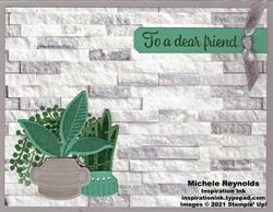 Plentiful plants granite wall planters watermark