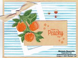 Sweet as a peach framed peach bunch watermark