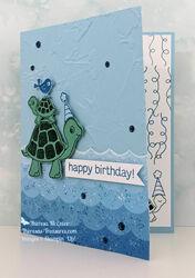 Stampin up turtle friends birthday open wm