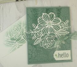 Stampin up artistically inked pretty flowers carolpaynestamps1