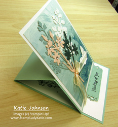 Quiet meadow easel card