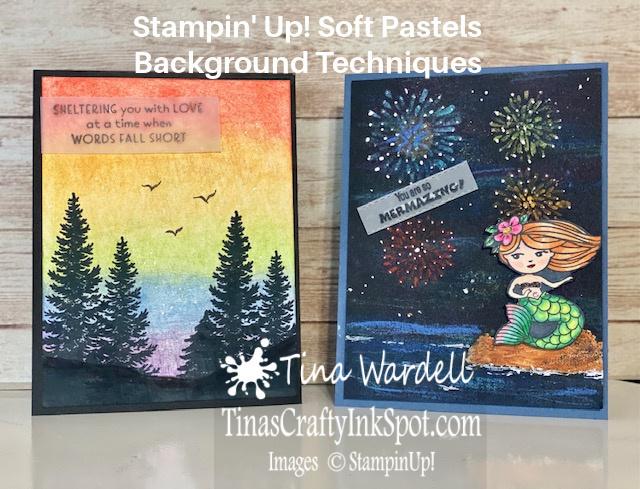 Soft pastels background techniques