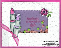 Dressed to impress lipstick shaker card watermark