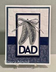 Dad card tasteful textures